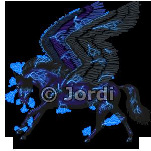Andaluský kůň - pegas: Perun