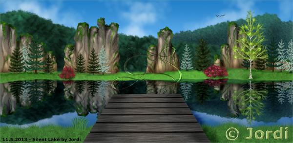 Krajina: Silent Mirror Lake : Klidné zrcadlové jezero