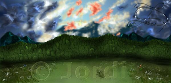 Krajina: 3 Color Clouds : Trojbarevné mraky