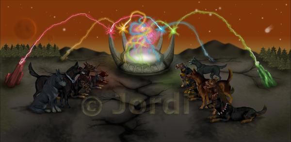 Krajina: Rainbow power fountain : Duhová energetická fontána